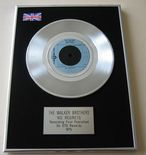 WALKER BROTHERS - NO REGRETS PLATINUM single presentation DISC